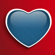 Valentines Day Heart in Jeans Texture