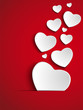 Valentine Day Heart on Red Background