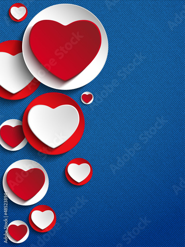 Valentines Day Heart Jeans Background