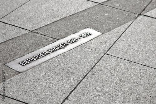 Berliner Mauer - Markierung in Berlin