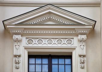 Fenster einer eleganten Villa - Detail