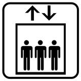 Fototapety Aufzug Symbol