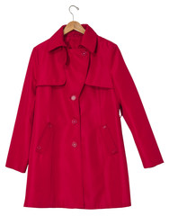 Red Raincoat on a Hanger