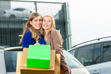 Two women were shopping and driving home