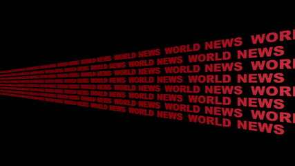 World News Looping Text Angle Five