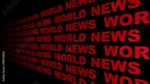World News Looping Text Angle One
