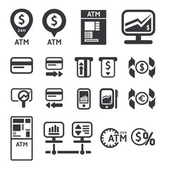 Finance and business vector icon set vector