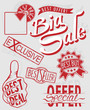 Vector illustration of retail sign collection