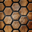 Brown Grunge Background with Hexagons