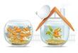 Aquarium home & social housing