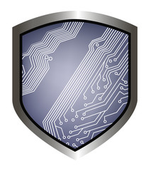 security shield background for web design
