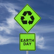 Earth Day Road Sign