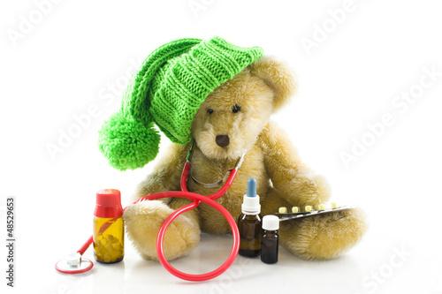 Sick teddy bear - Kranker Teddybär