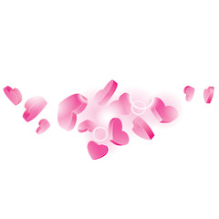 Vector background of hearts
