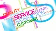 Customer Service satisfaction word tag cloud animation
