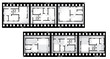blueprint of house on film background