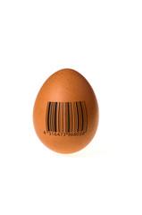Ei mit Barcode