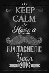 Happy New Year And Typographic Background