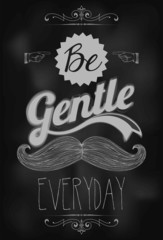 Vintage Mustache And Typographic Background