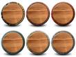 6 boutons texture peau de crocodile et bois