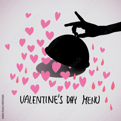 Valentine's day menu / Romantic square card