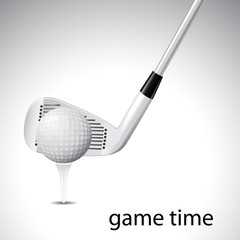 Game time -Golf background