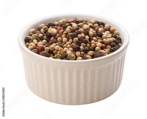 Rainbow Peppercorn Isolated clipping path