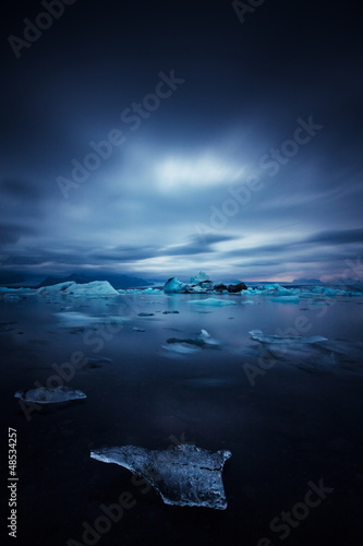iceberg and ice at jokulsarlon lake - 48534257