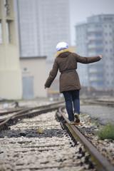 Balancing on rails