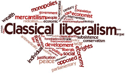 Word cloud for Classical liberalism