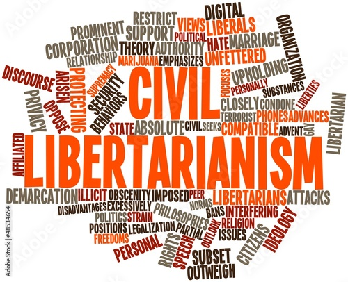 Word cloud for Civil libertarianism