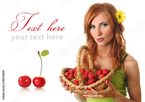 basket and cherry