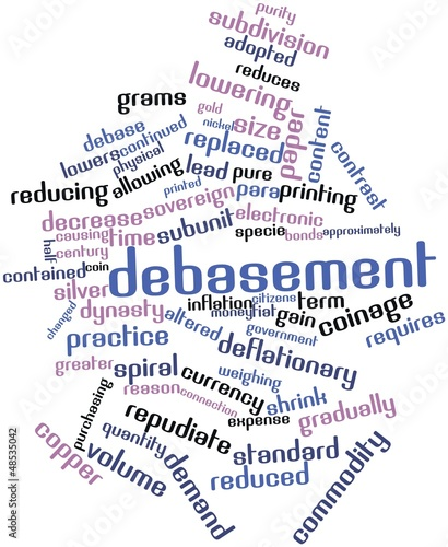 Word cloud for Debasement
