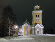 Kerimaki Church in winter night, Finland