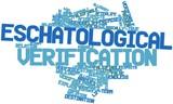 Word cloud for Eschatological verification poster