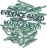 Word cloud for Evidence-based management