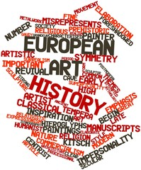Word cloud for European art history