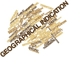 Word cloud for Geographical indication