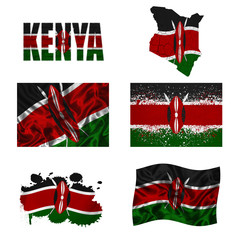 Kenyan flag collage