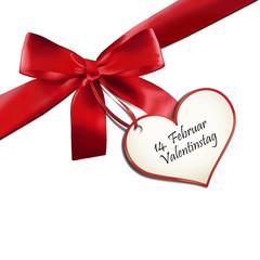 Rote Schleife - Valentinstag