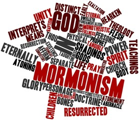 Word cloud for God in Mormonism