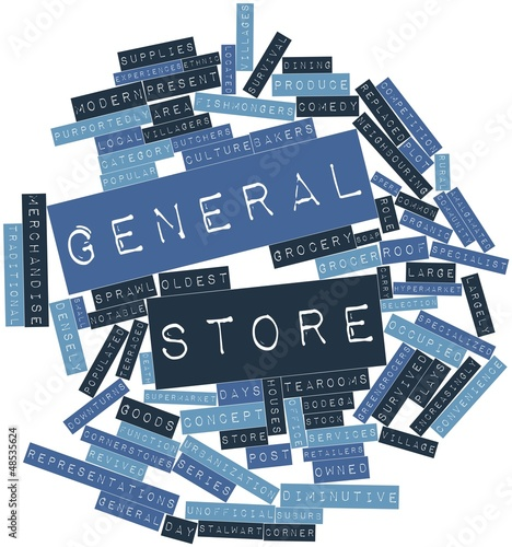 Word cloud for General store