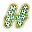 H -FOOTBALL  LETTER