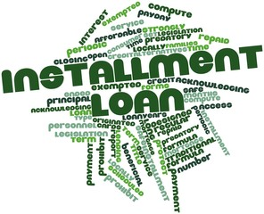 Word cloud for Installment loan