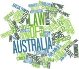 Word cloud for Law of Australia