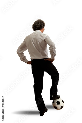Football concept with businessman