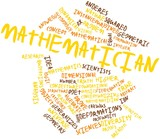 Word cloud for Mathematician poster