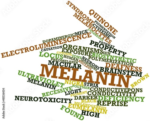 Word cloud for Melanin