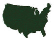 AMERICA MAP GRASS