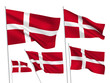 Denmark vector flags